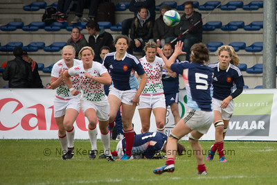 IRB WSWS Amsterdam 7s Day 1 at National Rugby Centre, Amsterdam, Netherlands on 13th May 2013 Game 9: England v France