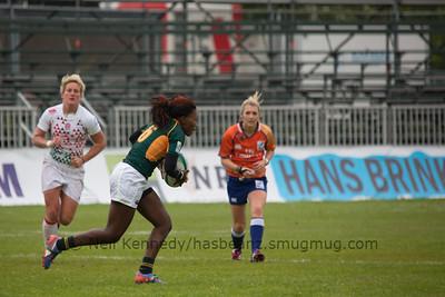 Lorinda Brown with the ball