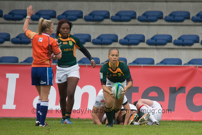 IRB WSWS Amsterdam 7s Day 1 at National Rugby Centre, Amsterdam, Netherlands on 13th May 2013 Game 3: England v South Africa
