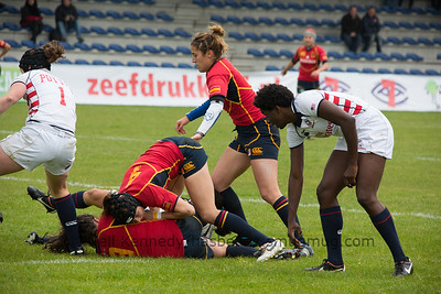 IRB WSWS Amsterdam 7s Day 1 at National Rugby Centre, Amsterdam, Netherlands on 13th May 2013 Game 8: Spain v USA