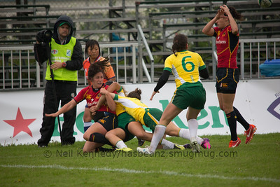 IRB WSWS Amsterdam 7s Day 1 at National Rugby Centre, Amsterdam, Netherlands on 13th May 2013 Game 14:  Brazil v Spain