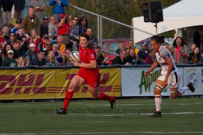 Britt Benn with the ball