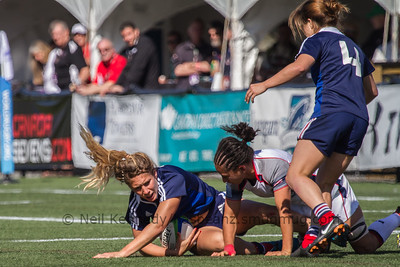 Marjorie Mayans was tackled by Kelly Griffin