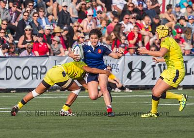 Pauline Biscarat is tackled