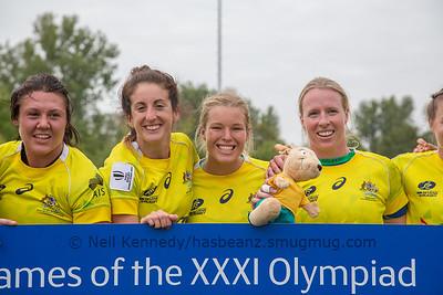 Qualifiers for Rio Olympics, left to right Sharni Williams, Alicia Quirk, Emma Tonegato, Gemma Etheridge