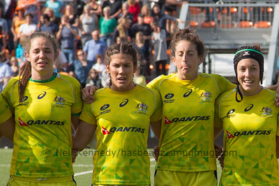 Left to right : Chloe Dalton, Charlotte Caslick, Alicia Quirk, Emilee Cherry
