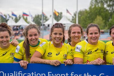 Qualifiers for Rio Olympics, left to right  Emilee Cherry, Chloe Dalton, Tiana Penitani, Evania Pelite, Shannon Parry