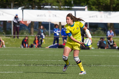 Chloe Dalton with the ball passing