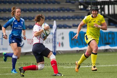 Maria Shemchuk with the ball
