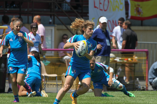 Game 07 Womens Euro Grand Prix 7s - Brive/Malemort Pool A 20/6/15 13:00 Russia v Italy