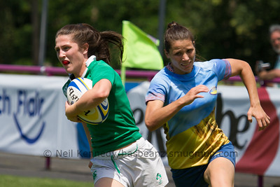 Game 25 Womens Euro Grand Prix 7s - Brive/Malemort SF Plate 21/6/15 13:12 Ukraine v Ireland