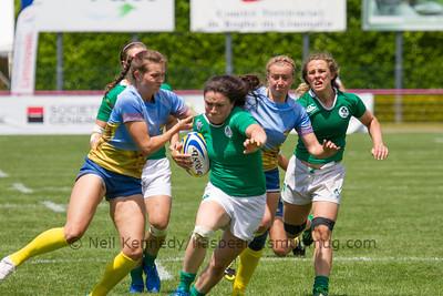 Game 25 Womens Euro Grand Prix 7s - Brive/Malemort SF Plate 21/6/15 13:12 Ukraine v Ireland