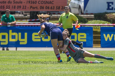 Laurie Harries tackles