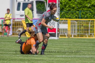 Bethan Dainton is tackled