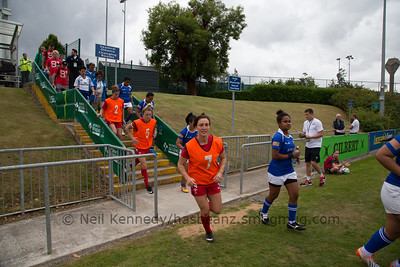 Bethan Dainton runs out for the game