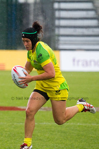 Australia 7s Emilee Cherry with the ball