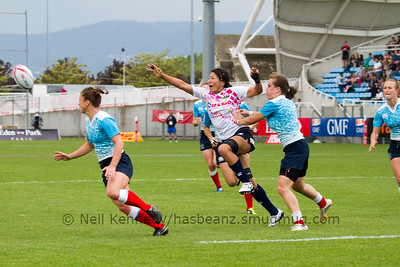 2015/16 HSBC World Rugby Women's Sevens Series - Clermont-Ferrand, Pool, Match 14 Russia 7s 19 - 17 Japan 7s Stade Gabriel Montpied, Clermont-Ferrand, France, 28th May 2016