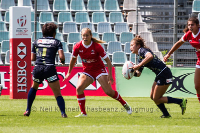 2015/16 HSBC World Rugby Women's Sevens Series - Clermont-Ferrand, Pool, Match 2 Canada 7s 21 - 15 Japan 7s Stade Gabriel Montpied, Clermont-Ferrand, France, 28th May 2016