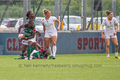 2015/16 HSBC World Rugby Women's Sevens Series - Clermont-Ferrand, Pool, Match 9 England 7s 22 - 0 Kenya 7s Stade Gabriel Montpied, Clermont-Ferrand, France, 28th May 2016