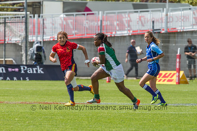 2015/16 HSBC World Rugby Women's Sevens Series - Clermont-Ferrand, Pool, Match 4 Spain 7s 37 - 5 Kenya 7s Stade Gabriel Montpied, Clermont-Ferrand, France, 28th May 2016