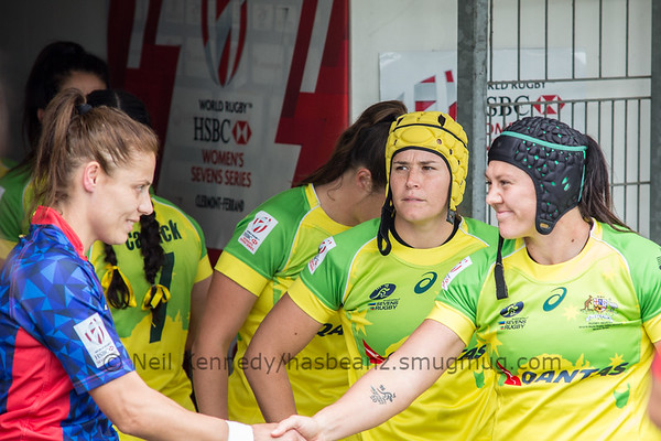 Captains shake hands before the game