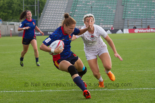 2015/16 HSBC World Rugby Women's Sevens Series - Clermont-Ferrand, Pool A, Match 15 ENGLAND v SPAIN May 28th 2016 17:12 ko Stade Gabriel Montpied, Clermont-Ferrand, France
