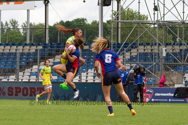 2015/16 HSBC World Rugby Women's Sevens Series - Clermont-Ferrand, Cup Quarter Finals, Match 21 AUSTRALIA v SPAIN (1ST POOL C v 2ND POOL A) May 29th 2016 13:04 ko Stade Gabriel Montpied, Clermont-Ferrand, France