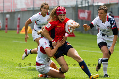 g10	2015/16 HSBC World Rugby Women's Sevens Series - Clermont-Ferrand, Pool, Match 10 Spain 7s 12 - 10 USA 7s Stade Gabriel Montpied, Clermont-Ferrand, France, 28th May 2016