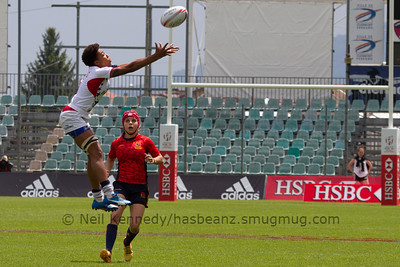 g102015/16 HSBC World Rugby Women's Sevens Series - Clermont-Ferrand, Pool, Match 10 Spain 7s 12 - 10 USA 7s Stade Gabriel Montpied, Clermont-Ferrand, France, 28th May 2016