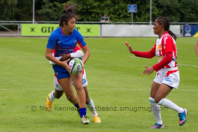 SAMOA 7s v MADAGASCAR 7s, Day 1, June 25th, 2016 Olympic Repechage Womens, Pool A , Match 13,14:34, UCD  Bowl, Dublin