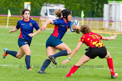 Game 31 (7/8 playoff) Belgium v Spain, Rugby Europe Women's GP7s, Malemort-Sur-Correze, 25/09/16 (00:00)