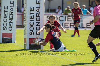 Women's Grand Prix 7s, 1st of 2 Tournaments, Malemort-sur-Correze, France, Stade Raymond Faucher, 17-18 June 2017 POOL2, FRANCE 50 v 5 WALES