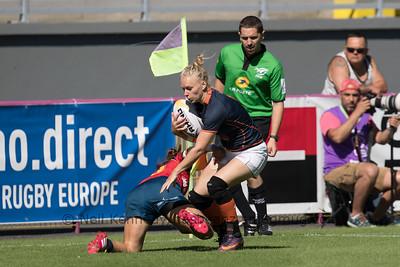 Women's Grand Prix 7s, 1st of 2 Tournaments, Malemort-sur-Correze, France, Stade Raymond Faucher, 17-18 June 2017 POOL1, NETHERLANDS 0 v 19 SPAIN
