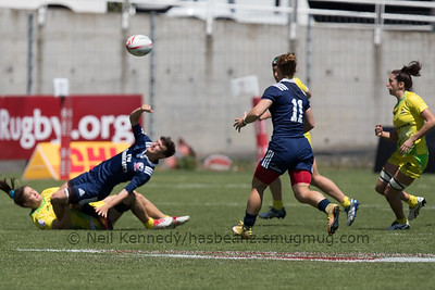 HSBC World Rugby Women's Sevens Series 2016-17- Clermont-Ferrand, Cup Quarter Finals, Match 20, AUSTRALIA 7s v USA 7s, 12:20, Stade Gabriel Montpied, Clermont Ferrand