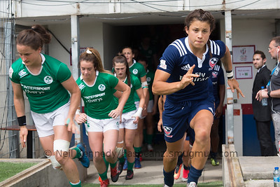 HSBC World Rugby Women's Sevens Series 2016-17- Clermont-Ferrand, Pool, Match 1, USA 7S V IRELAND 7S, 12:00, Stade Gabriel Montpied, Clermont Ferrand