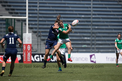 HSBC World Rugby Women's Sevens Series 2016-17- Clermont-Ferrand, 5th Place Semi Final, Match 25, IRELAND 7s V USA 7s, 15:06, Stade Gabriel Montpied, Clermont Ferrand
