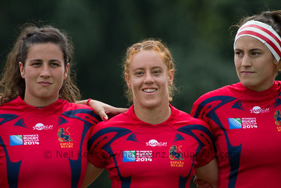 Game 14, Marcoussis 2, Round 3 Pool A: Spain - Samoa, 15:00, 09 Aug 2014.  Women's Rugby World Cup 2014