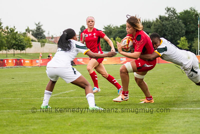 Game 15, Marcoussis 2, Round 3 Pool C: Wales - South Africa, 17:00, 09 Aug 2014.  Women's Rugby World Cup 2014
