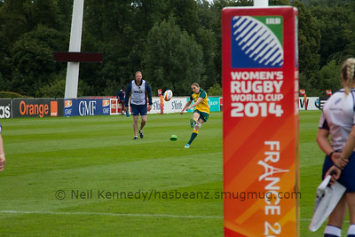 Game 21, Marcoussis 1, Round 4: Australia - USA, 18:30, 13 Aug 2014.  Women's Rugby World Cup 2014