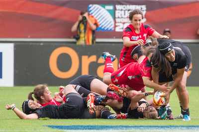 Game 22, Stade Jean Bouin, Round 4: New Zealand - Wales, 15:45, 13 Aug 2014.  Women's Rugby World Cup 2014