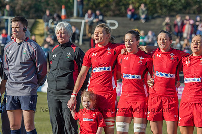 2014-15 Womens 6 Nations Wales v England at Swansea RFC 8th Feb 2015