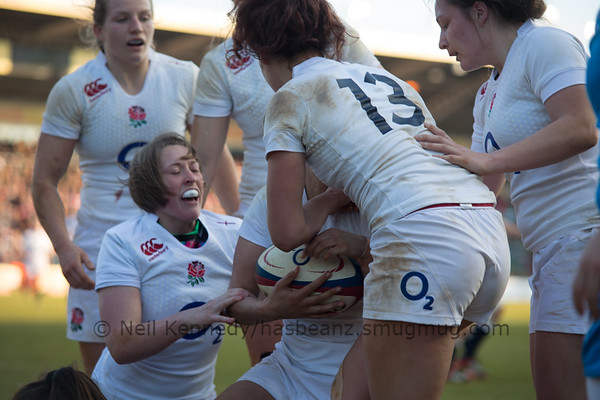2014-15 Womens 6 Nations England v Italy at The Stoop, London 15th Feb 2015
