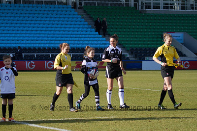 The ref team for the match, L to R: Nikki O'Donnell, Alhambra Nievas, Sarah Cox