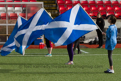 Scotland flags before the game