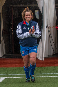 Elisa Cucchiella is first on the field for her 50th cap