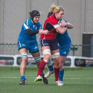 Rachael Cook tries to break through a tackle