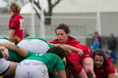 Sioned Harries gets ready for scrum