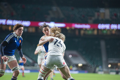 Fiona Pocock is tackled
