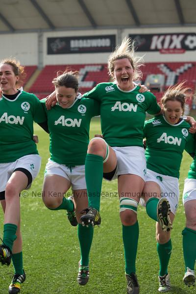 2014-15 Womens 6 Nations Scotland v Ireland at Broadwood Stadium, Cumbernauld, March 22nd 2015
