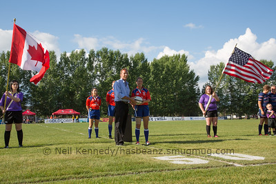 Game 04 Canada Super Series Day 2 01/07/15 Canada v USA, 2015 Women's Rugby Super Series, Red Deer Rugby Park, Red Deer, Alberta, Canada